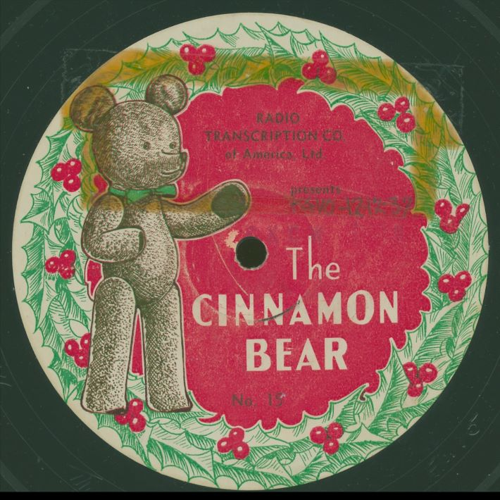 vintage disc cover from the Cinnamon Bear radio show we listen to during advent